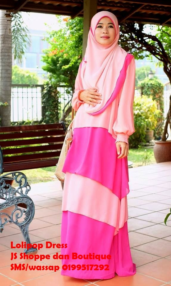 Dress Labuh Lolipop Peach/ Pink