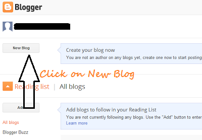 Make a Blogger Blog