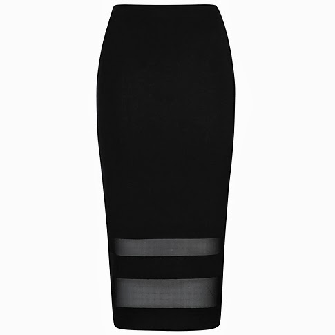 asda black skirt