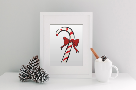 Picture of Designs by IO Candy Cane Print