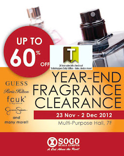 KL Sogo Year-End Fragrance Clearance 2012