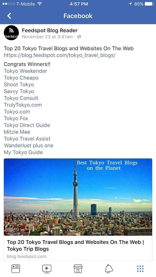 Awarded Top 20 Tokyo Travel Blog