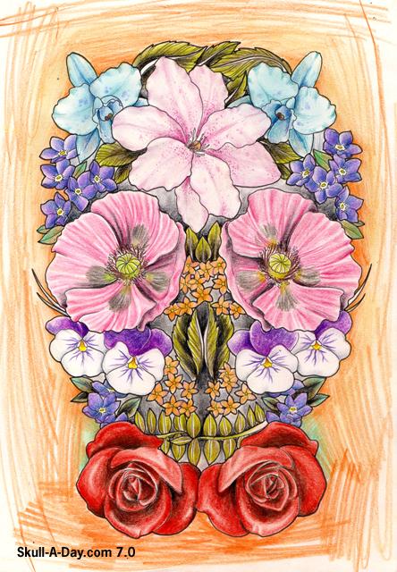 Flower skull mightylinksfo