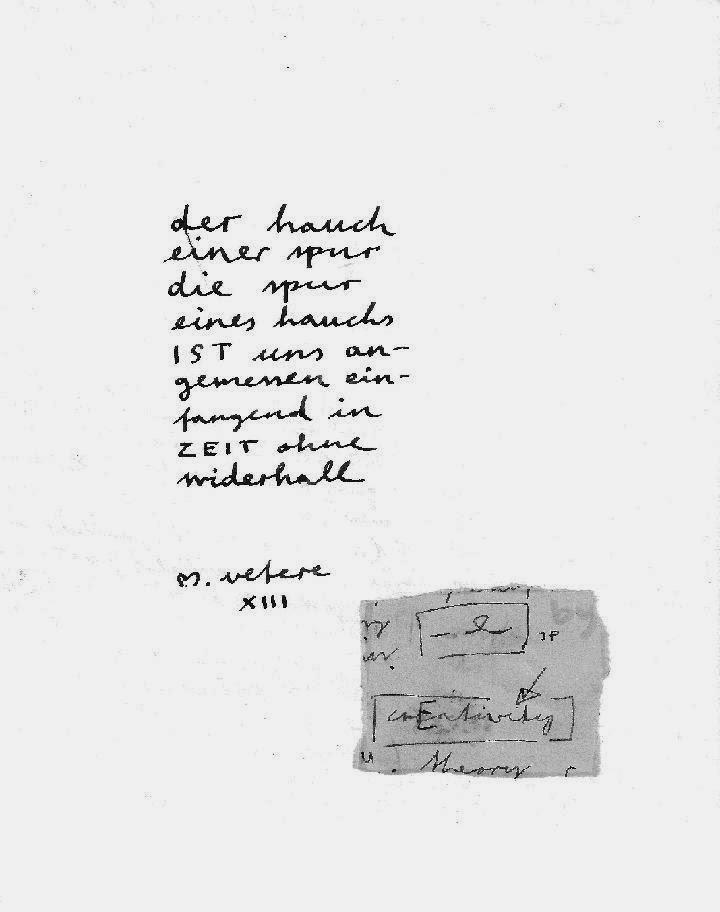 ultimE poème i.m. ELF WORTE in DIE UNGESTILLTEN SÄUGER (ein fragment) mit nachwort erika burkart