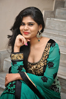 Alekhya Latest Picture Gallery in Green Long Dress ~ Celebs Next