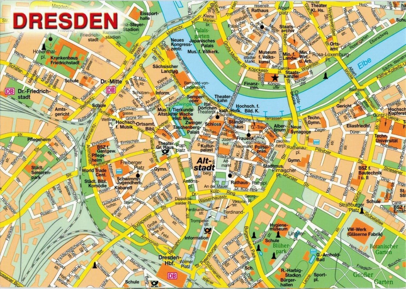 Map Cards Hunting 0291 Germany Dresden