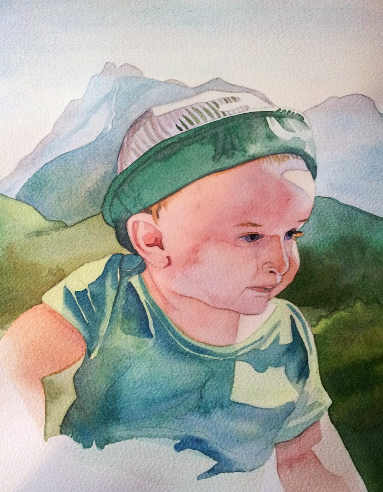 Custom watercolor portraits by Irene Woodbury