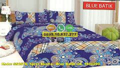 Harga Sprei Bonita – Blue Batik Uk. 180×200 Jual