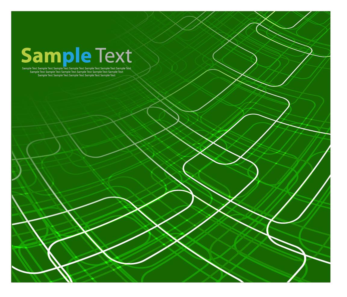 緑に白い矩形のラインが交わる背景 Technical Abstract Background Vector Illustration イラスト素材