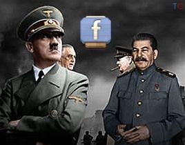 Hitler / Stalin / Roosevelt / Churchill / Guerra Mundial / Facebook