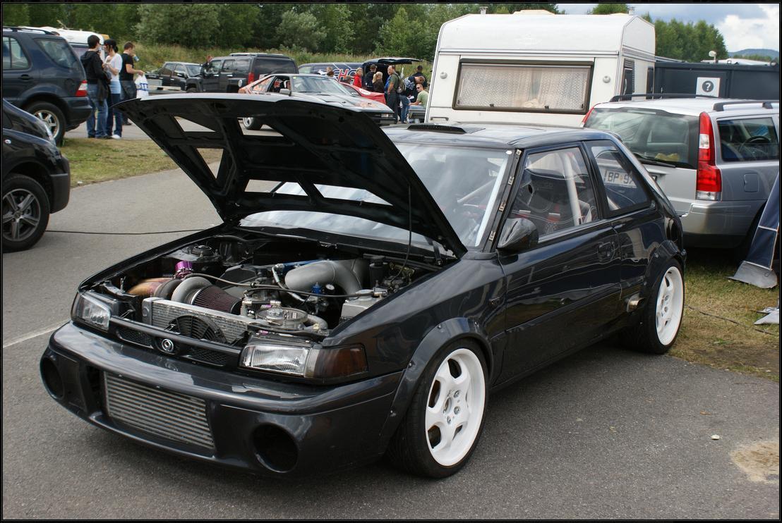 Mazda 323 BG GT-R tuning swap silnik engine
