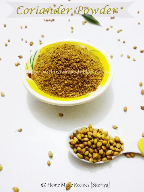 coriander powder/ dhania powder - fresh home made