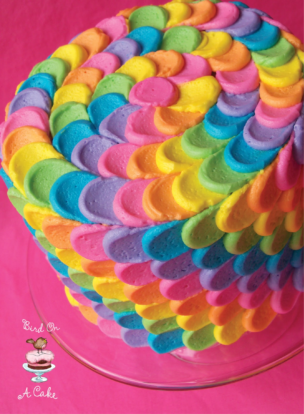 bird on a cake rainbow petal cake virtual baby shower. Black Bedroom Furniture Sets. Home Design Ideas