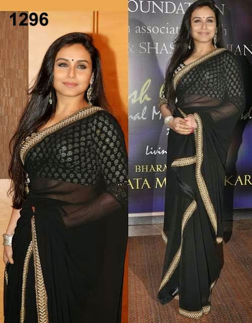 Rani mukherjee in black saree