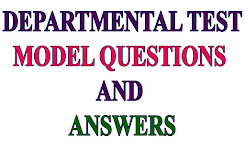 DEPARTMENTAL TEST MODEL QUESTIONS AND ANSWERS