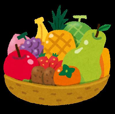 フルーツバスケットのイラスト「カゴに盛られた果物」