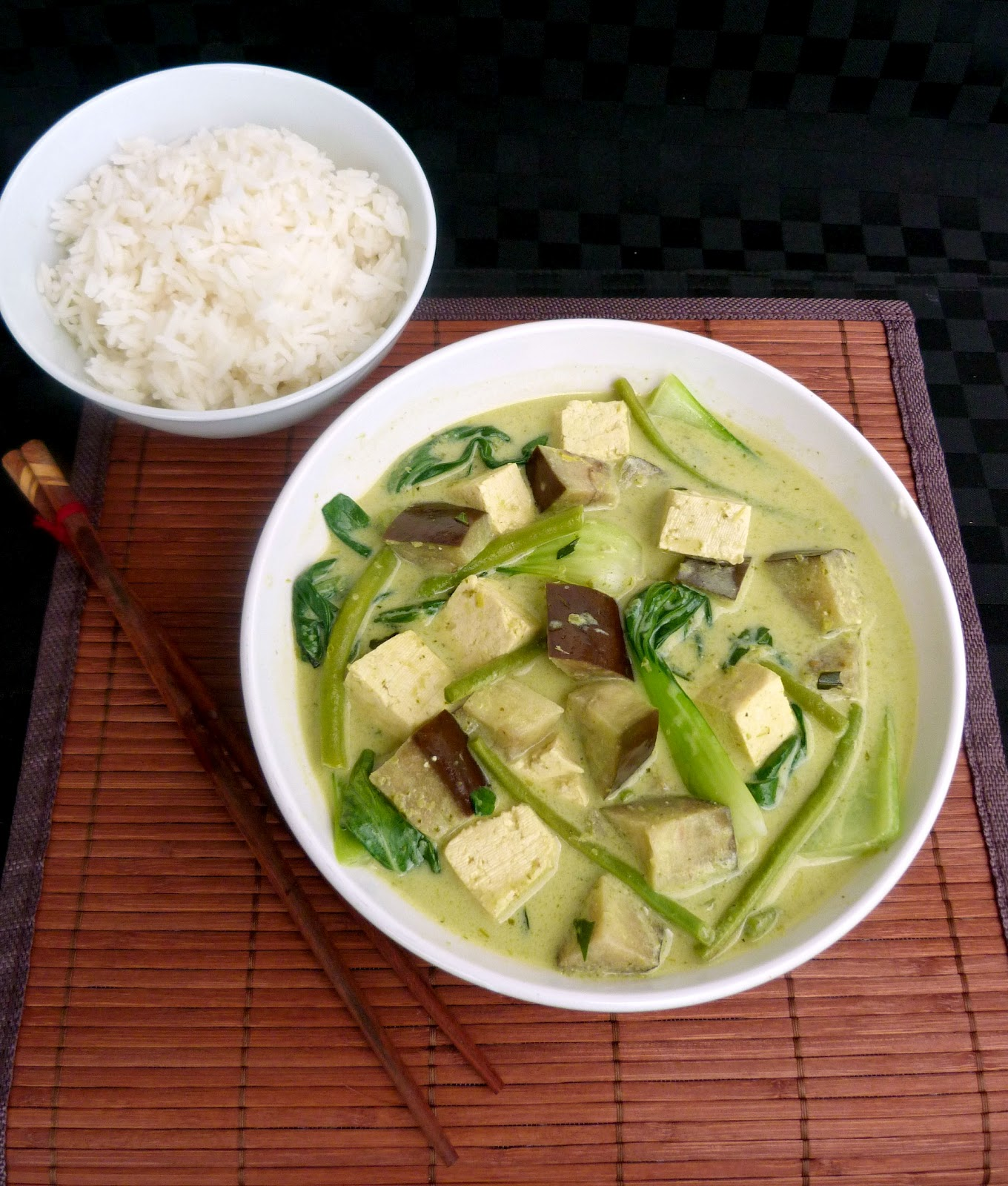 Vanilla & Spice: Thai Green Curry with Tofu and Eggplant