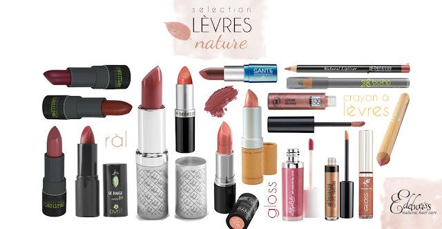 routine naturelle pour les lèvres rouge à lèvres bio