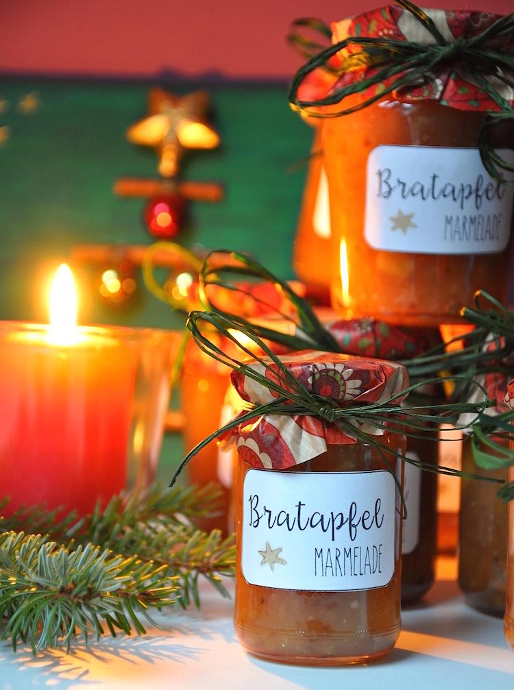 Last-Minute Weihnachtsgeschenk - Bratapfelmarmelade