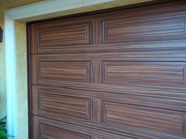 Painting Two Garage Doors To Look Like Wood Grain