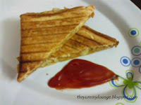 How to make smash Potato Masala Grilled Sandwich Recipe