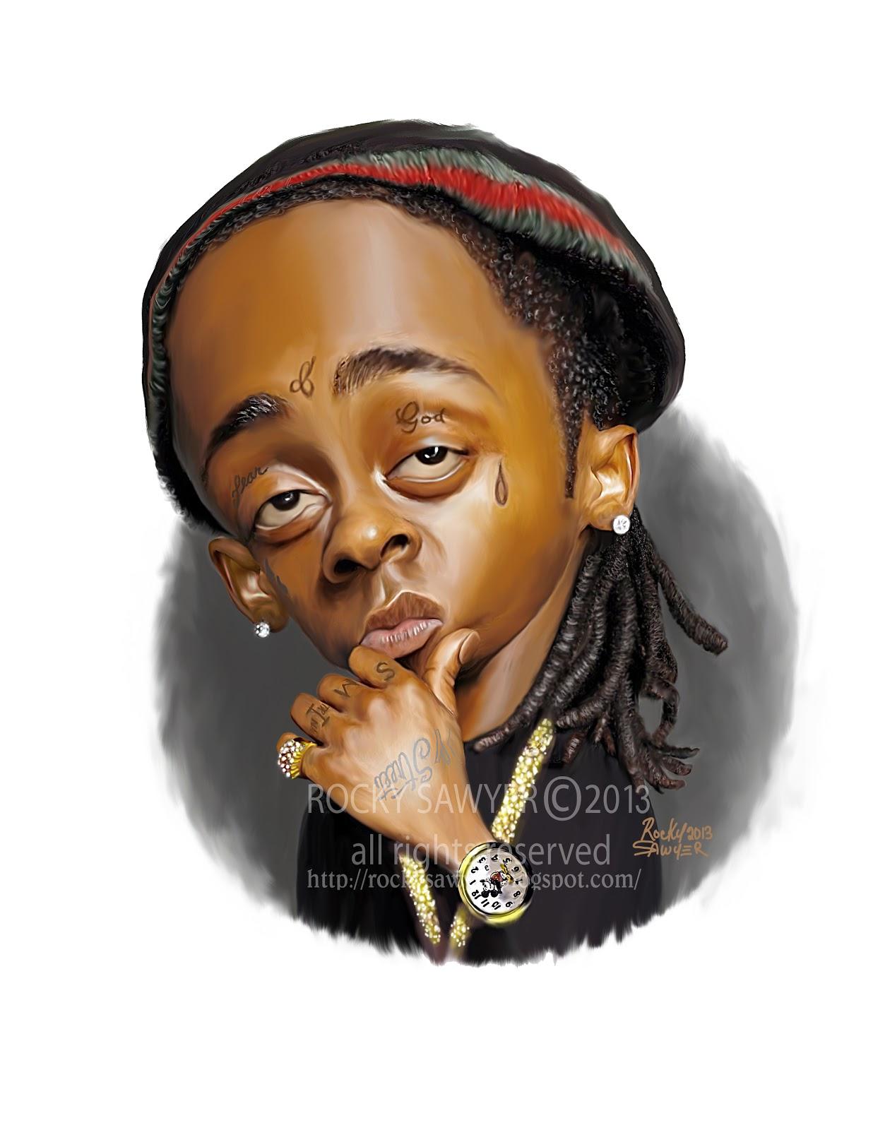 Sawyer Illustration Inc. caricature and cartoon art studio: Lil' Wayne