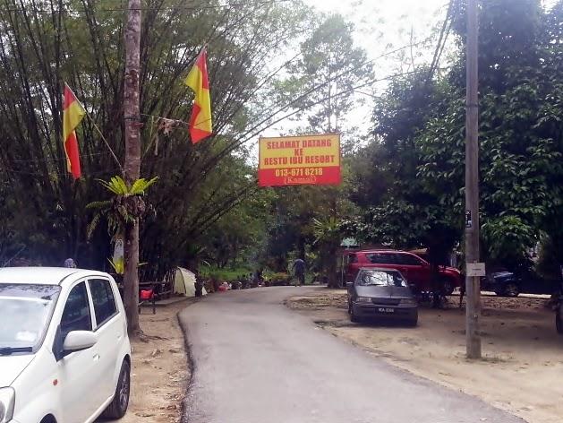 Berkelah di Restu Ibu Resort Kg Ulu Kalong,Ulu Yam Bharu.
