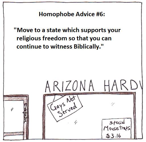 homophobe advice #6 - arizona, by rob g