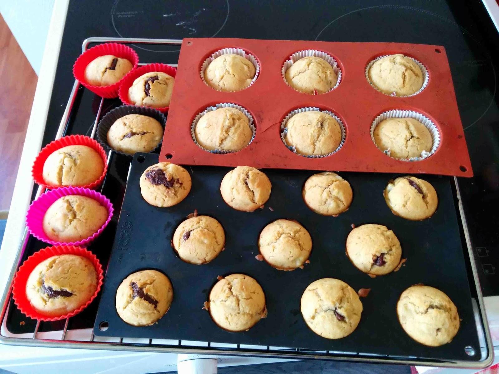 Muffins poires chocolat