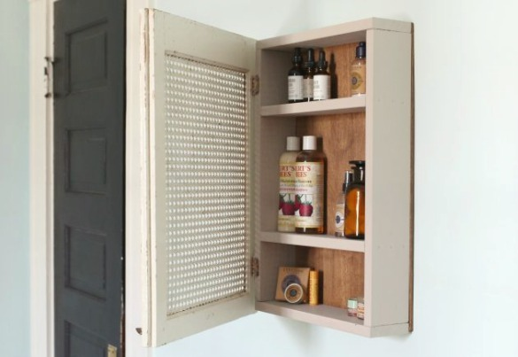 17 Apart: Over on eHow: DIY Upcycled Medicine Cabinet