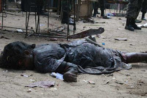 Pictures of LTTE suicide bomb attack targeting Tamil civilians