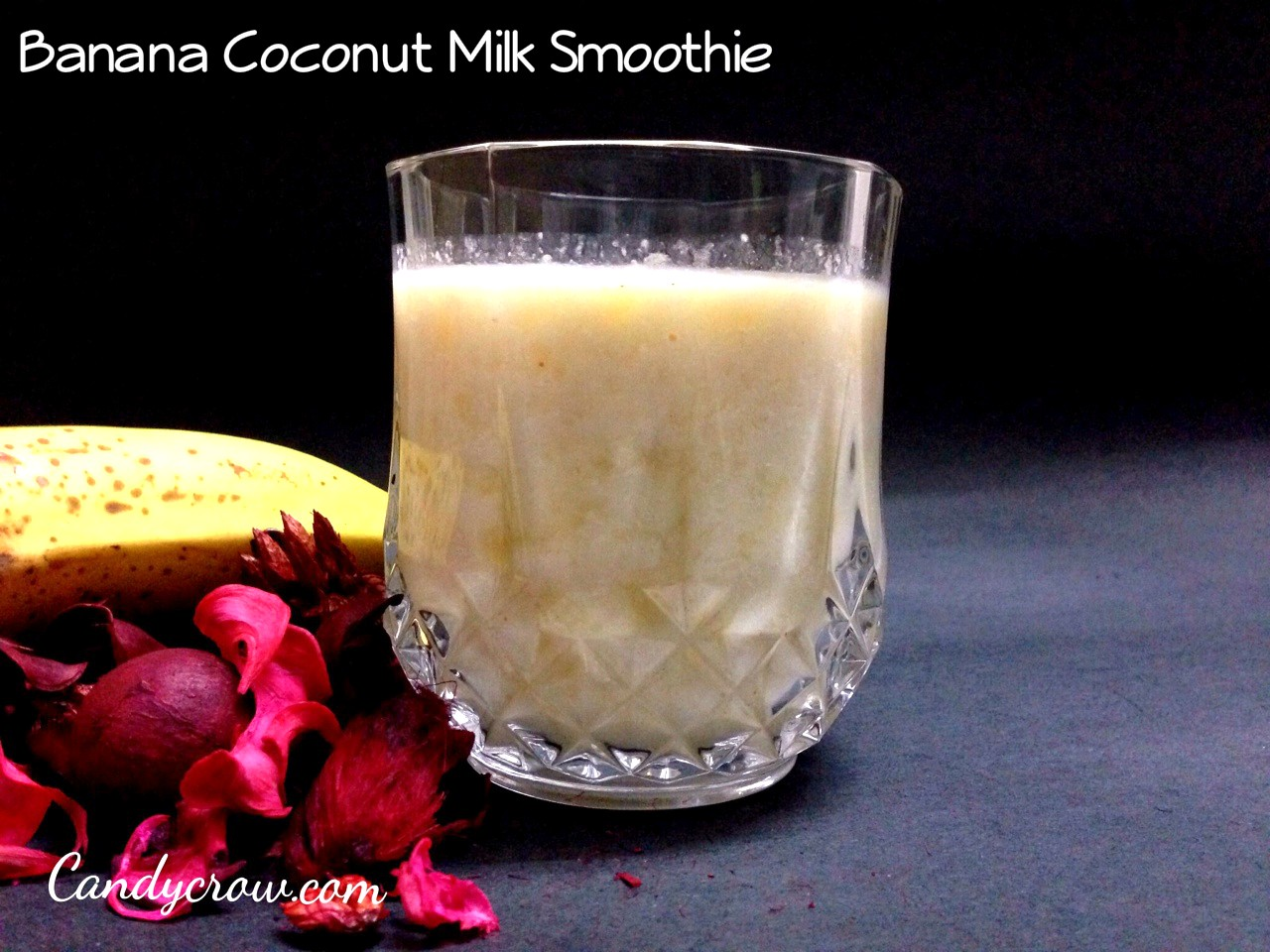 banana coconut milk shake
