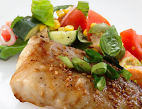 Seared Flounder & Summer Panzanella