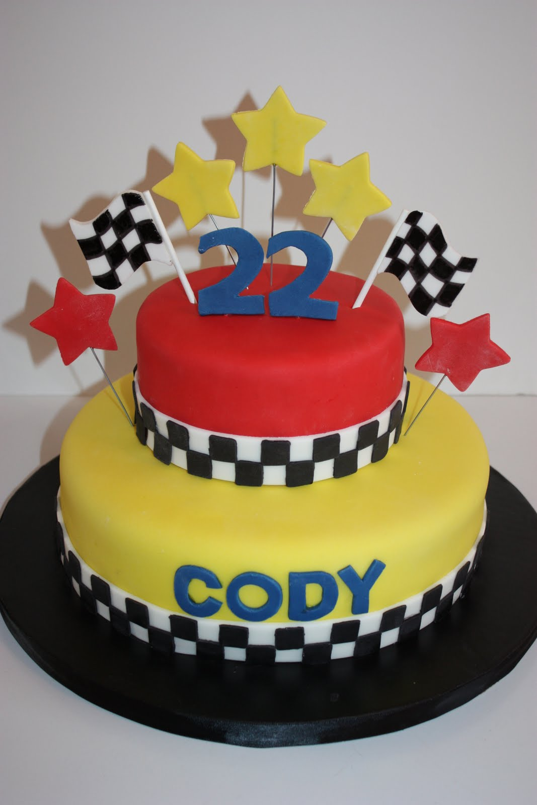 Cake Decorating Racing Car : Whimsical by Design: Cody s Racing Cake