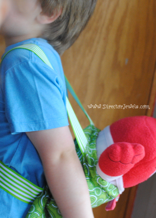 DIY Plush Toy Backpack Tutorial with Inside Out from Disney/Pixar at directorjewels.com