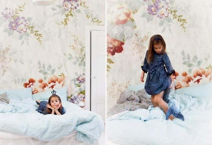 3 ideas con mucha tela decoraci n for Papel para tapizar paredes