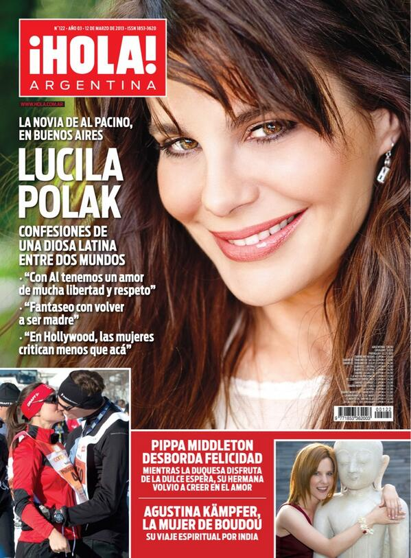 Revista tapa luc a polak novia de al pacino tapa de for Revistas del espectaculo