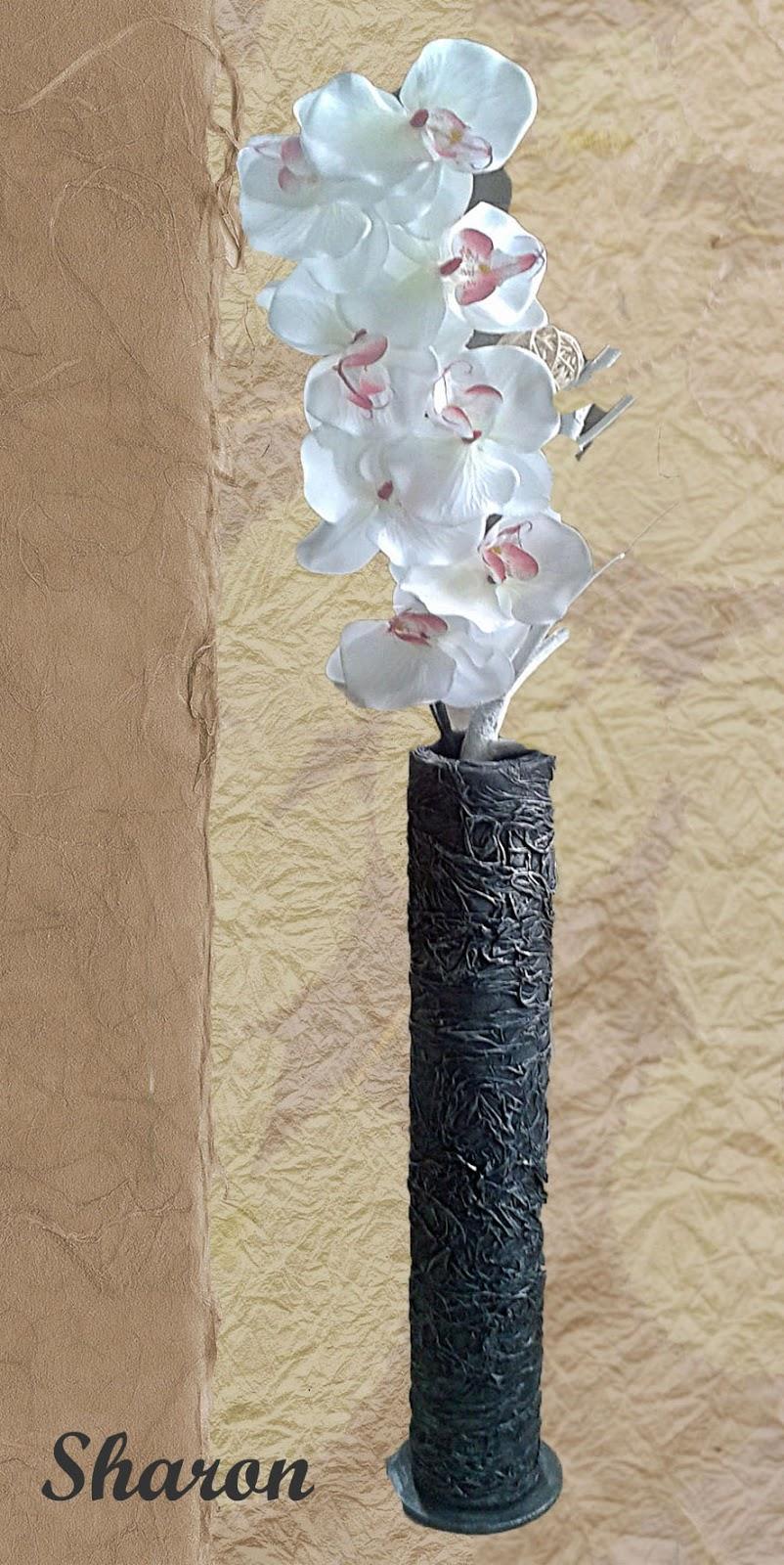 las manualidades de sharon floreros hechos con tubos de