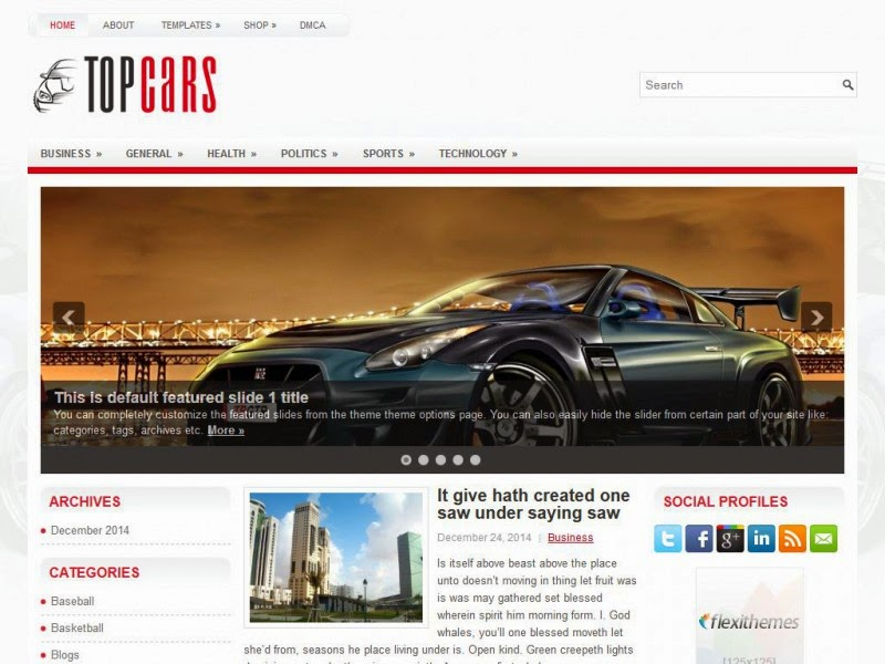 TopCars - Free Wordpress Theme