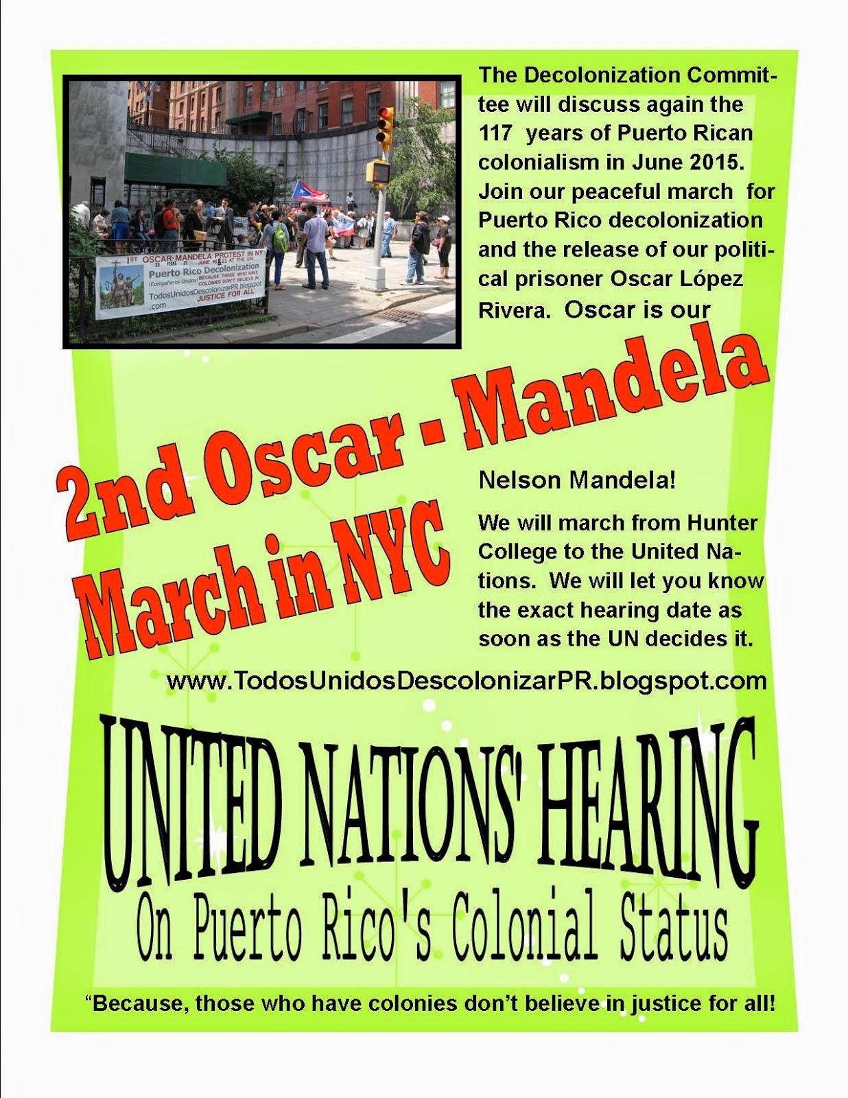 2nd Oscar - Mandela March in NYC 2015