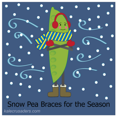 Snow Pea Braces for the Season, Ear Muffs, Scarf, Mittens, Boots