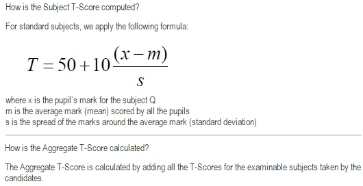 Swift Formula - Maths Tuition: PSLE T-Score Calculation