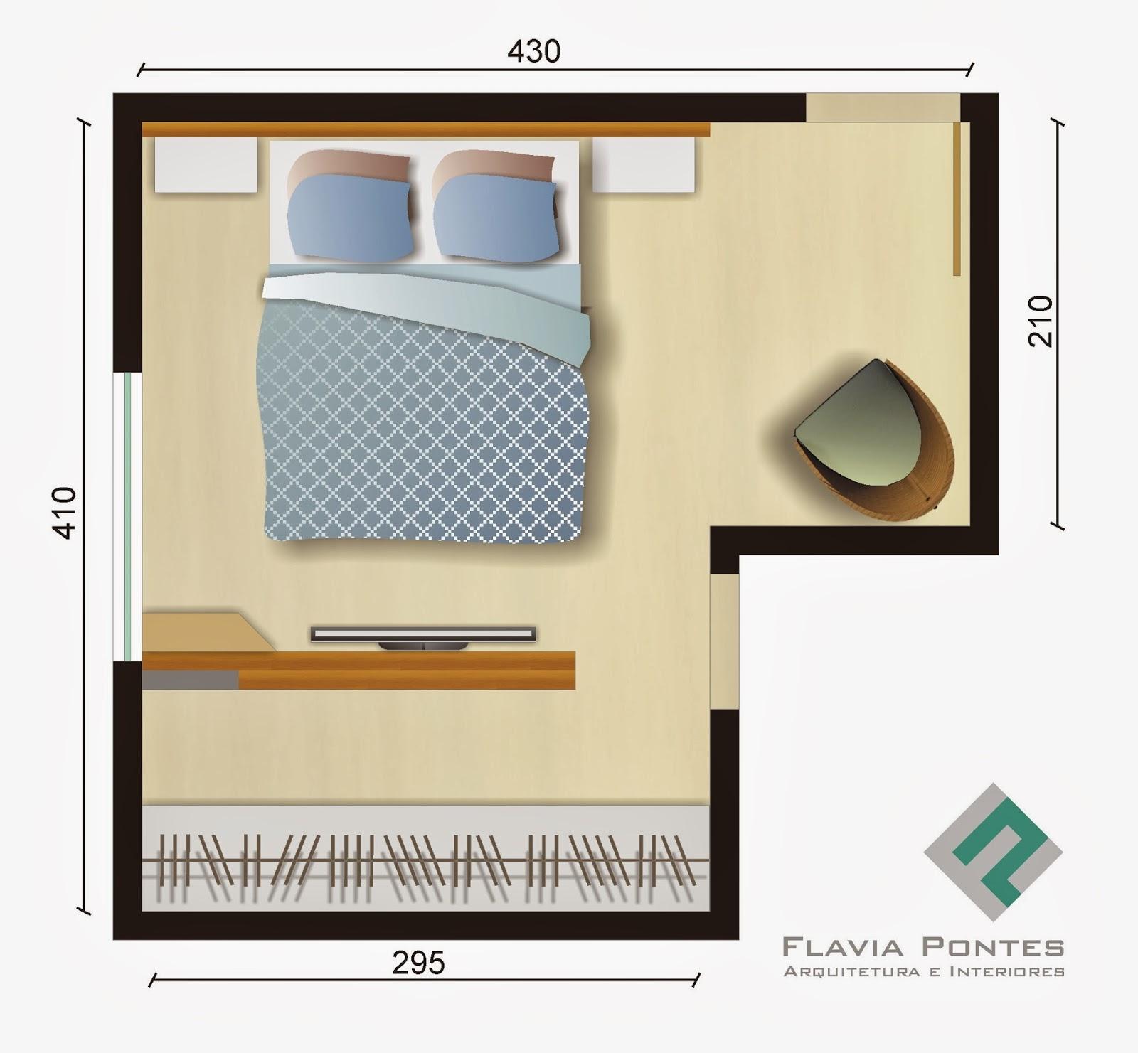 Este quarto com formato em L porém de medidas generosas (ver plan  #A86E23 1600 1481
