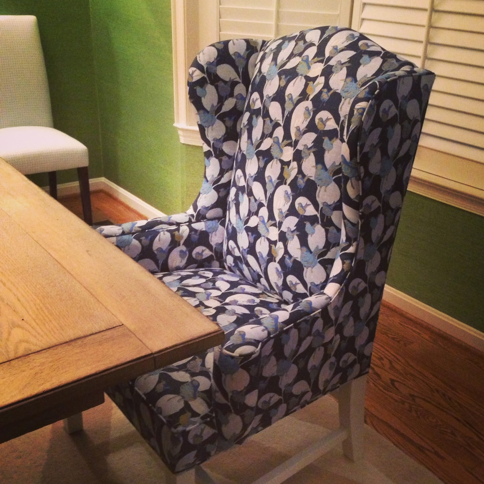 jenny castle design: dining room host chairs