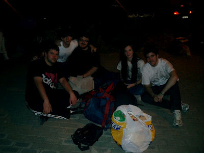El equipo de La Quinta Esfera disfrutando de la noche Alerta Ovni 2012.
