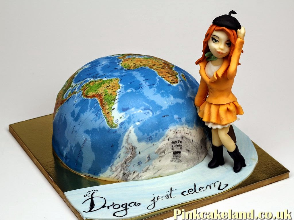 3D World Map Birthday Cake, London