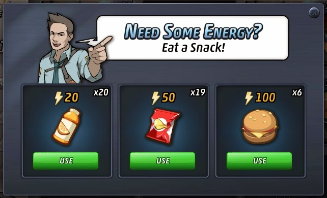 Criminal case game+chips+burger+juice+energy+reward+free complete meal+extra energy