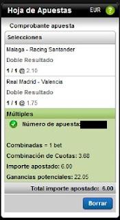 Apuestas Deportivas Fútbol – Liga BBVA Real Madrid-Valencia Malaga-Racing de SantanderRosberg Titanbet