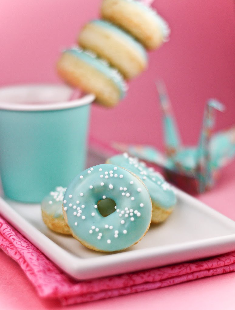 Sweet Tiffany blue doughnuts made by Sprinkle Bakes