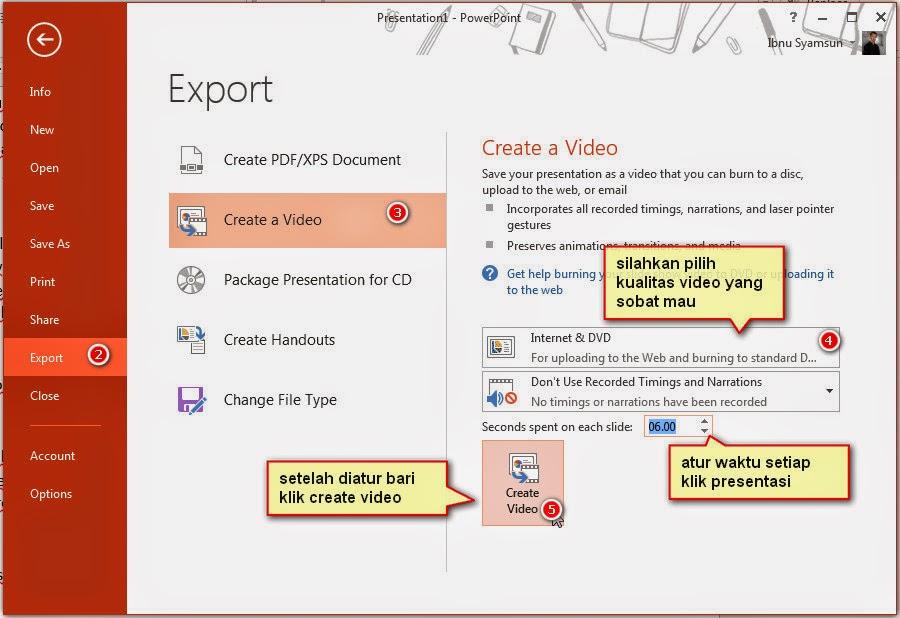 Cara membuat powerPoint menjadi video